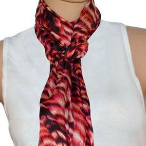 Calvin Klein Scarf Black/Red One Size